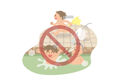 bathing instructions illust